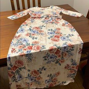 NWOT floor length floral dress